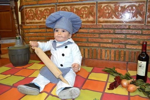 cocinero disfraz para bebe, fotos
