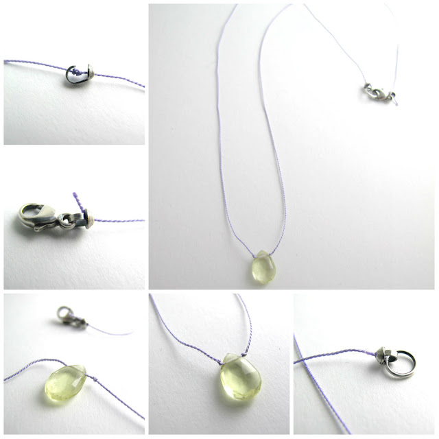 knotted briolette necklace free diy jewelry tutorial