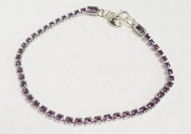 purple tennis bracelet Macee Leigh Swarovski Collection