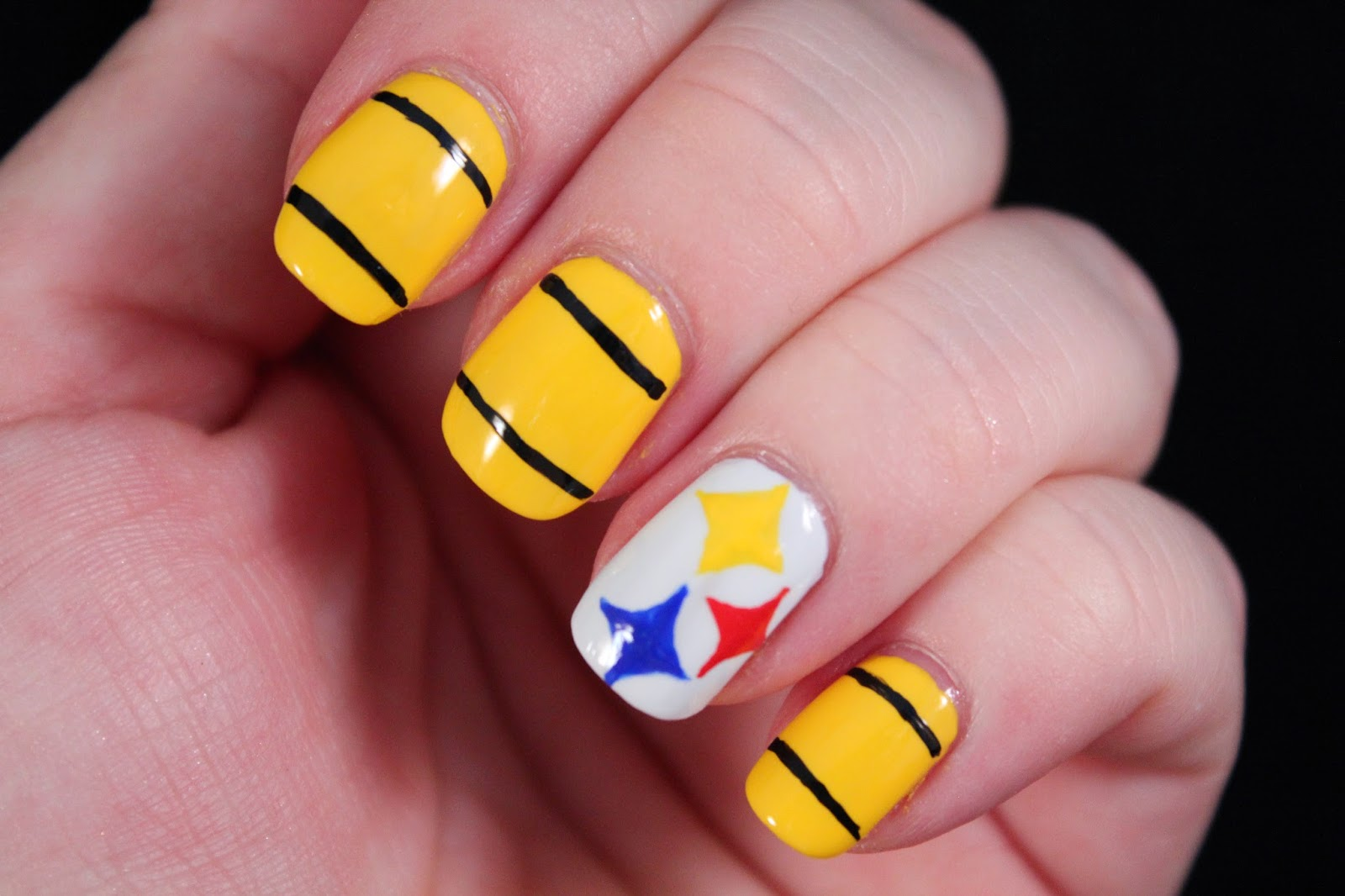 Steelers Acrylic Nails Steeler Nail Designs