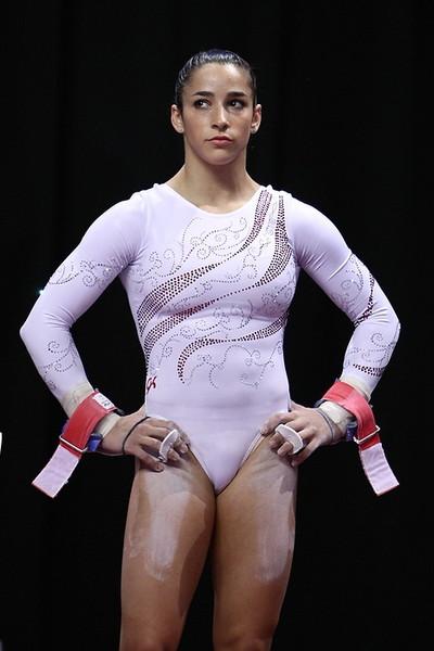 Boob slip Gymnastics