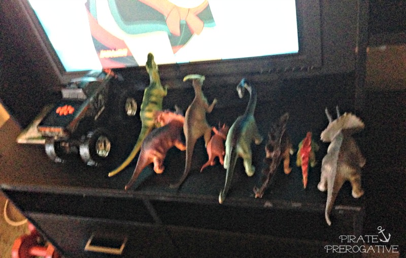 Dinosaurs need to line up to watch TV, and other toddler logic in Shiver Me Timbers Tuesday.