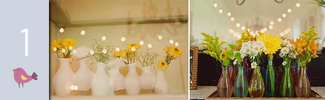 decoração de casamento, casamento, potes de vidro