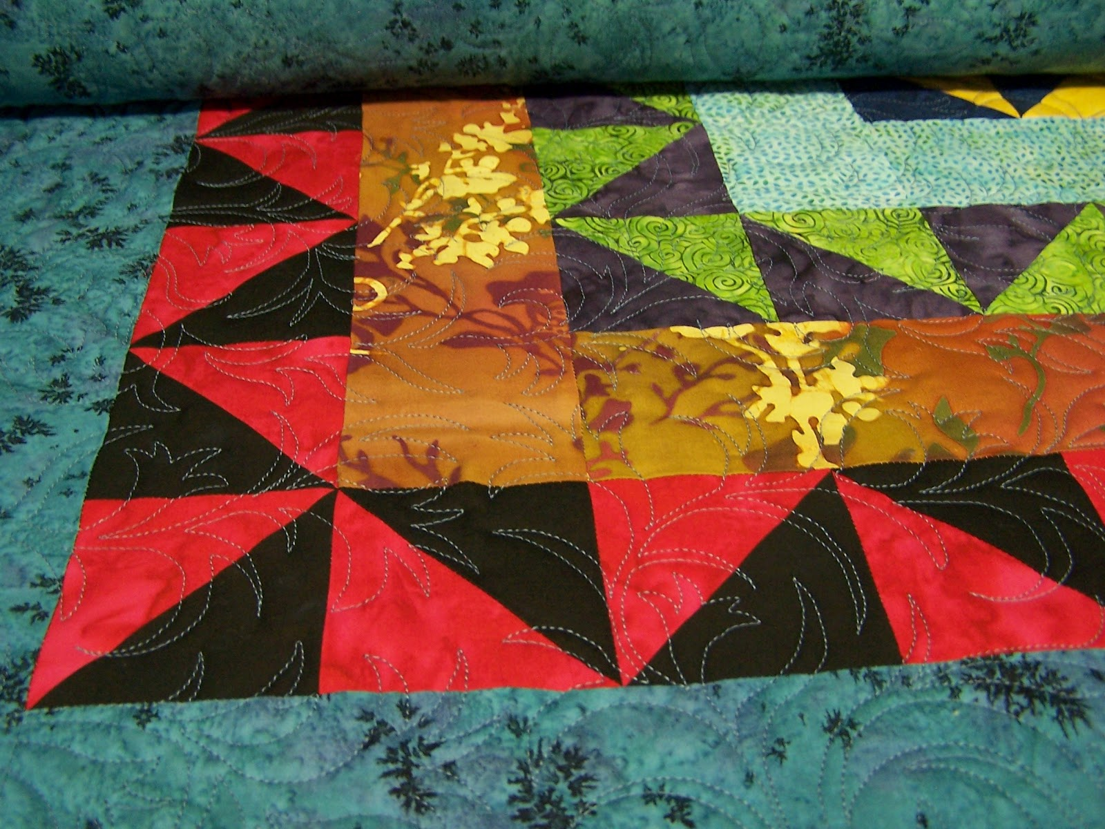 pattern quilt thistle