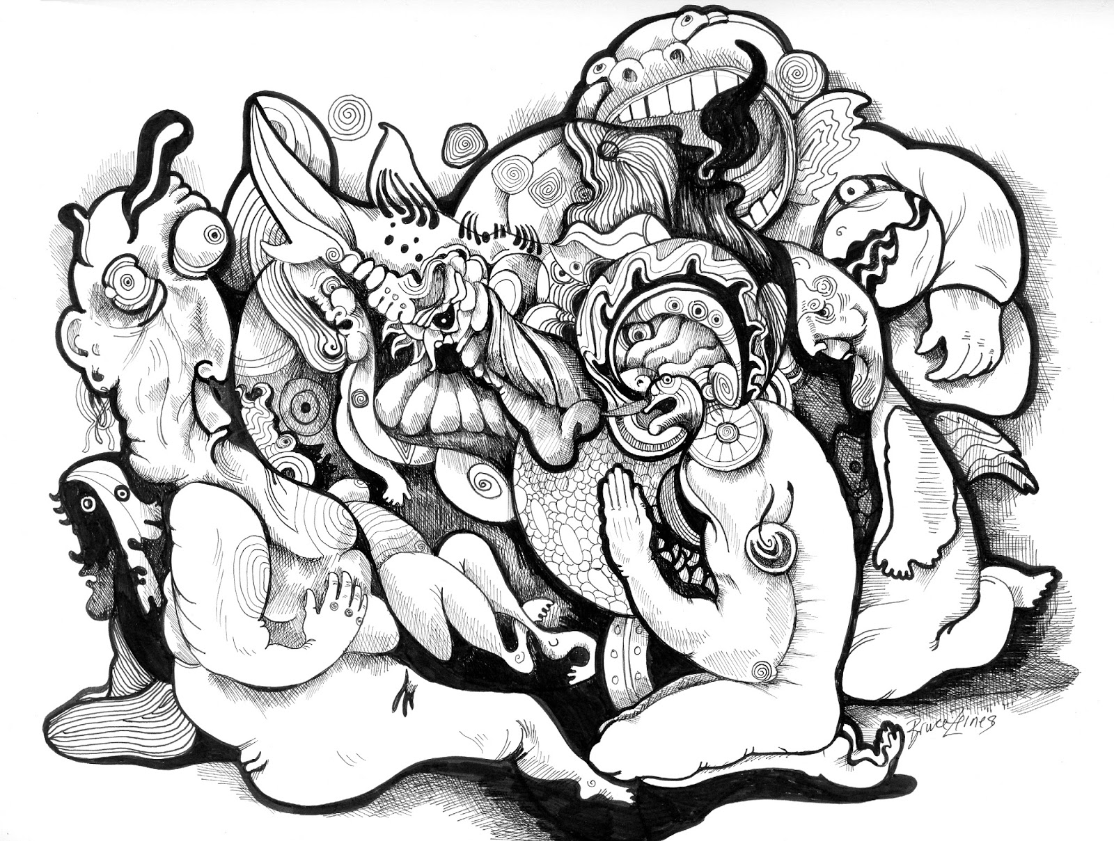 Trippy Mushroom Coloring Pages Coloring Coloring Pages