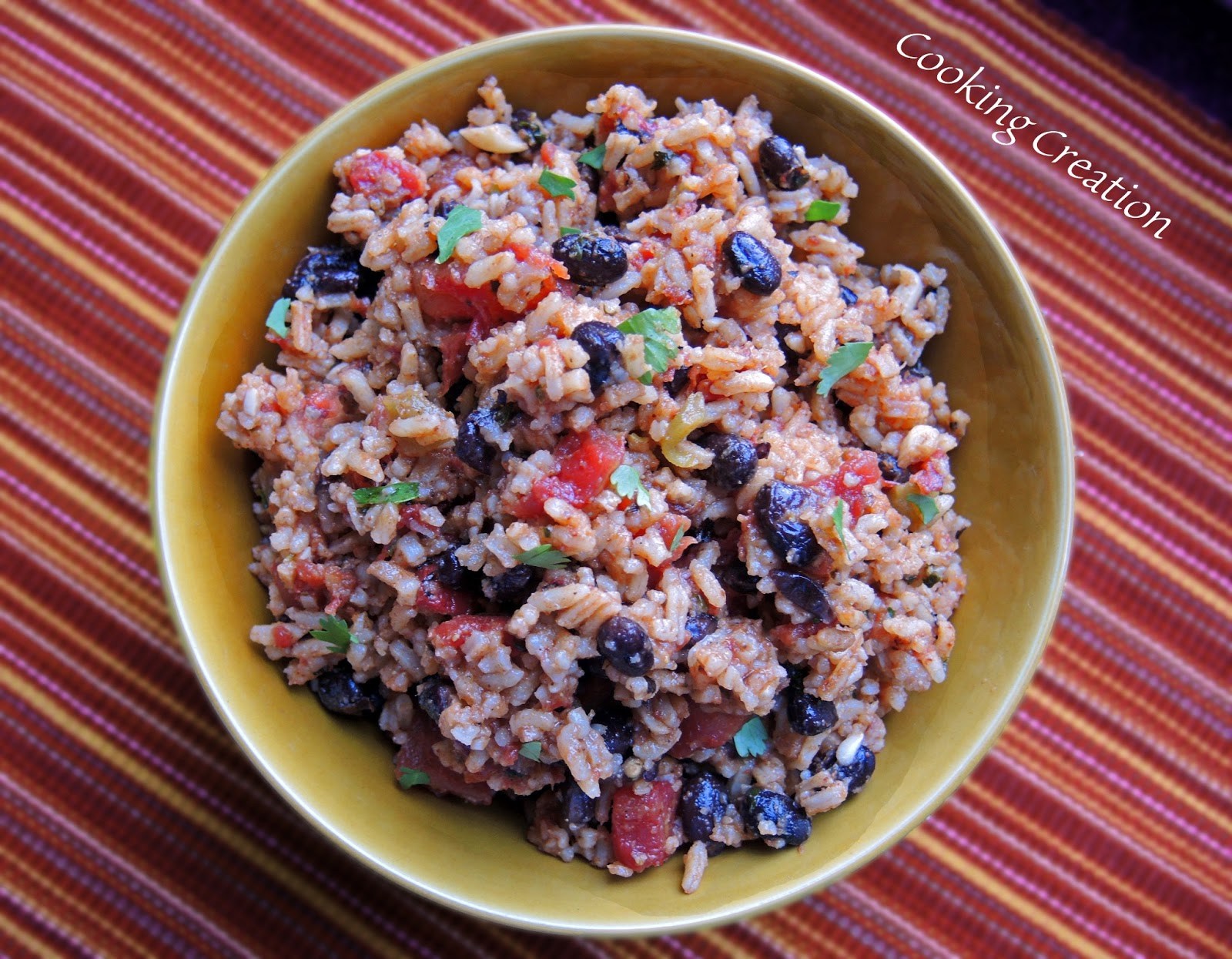 Cooking Creation: Mexican Rice & Black Beans