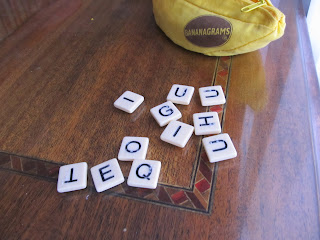 Bananagrams tiles with braille