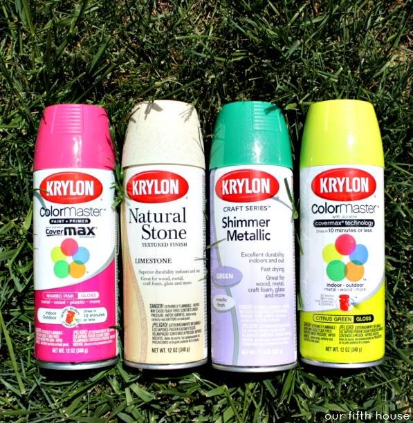 Krylon Spray Paint Color Palette Challenge