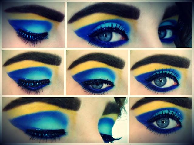colourful eye makeup