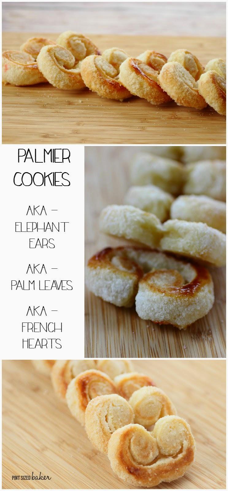 Palmier Cookies - AKA Elephant Ears - AKA Palm Leaves - AKA French Hearts. Whatever you call them, they're GREAT!