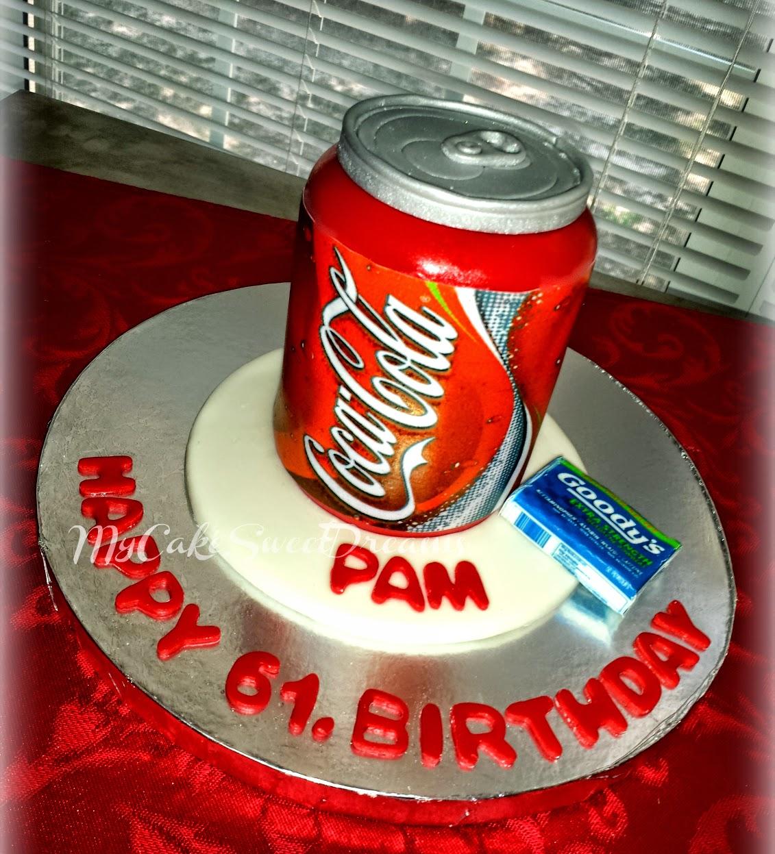 MyCakeSweetDreams: Coca Cola Can Birthday Cake & Cupcakes