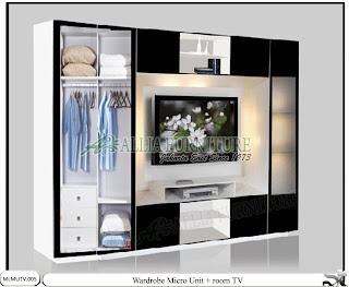 lemari minimalis modern tv unit Micro