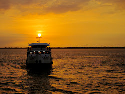 Amazon Riverboat - sunset