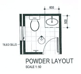 Building the rendezvous with ventura homes plans for Smallest powder room size
