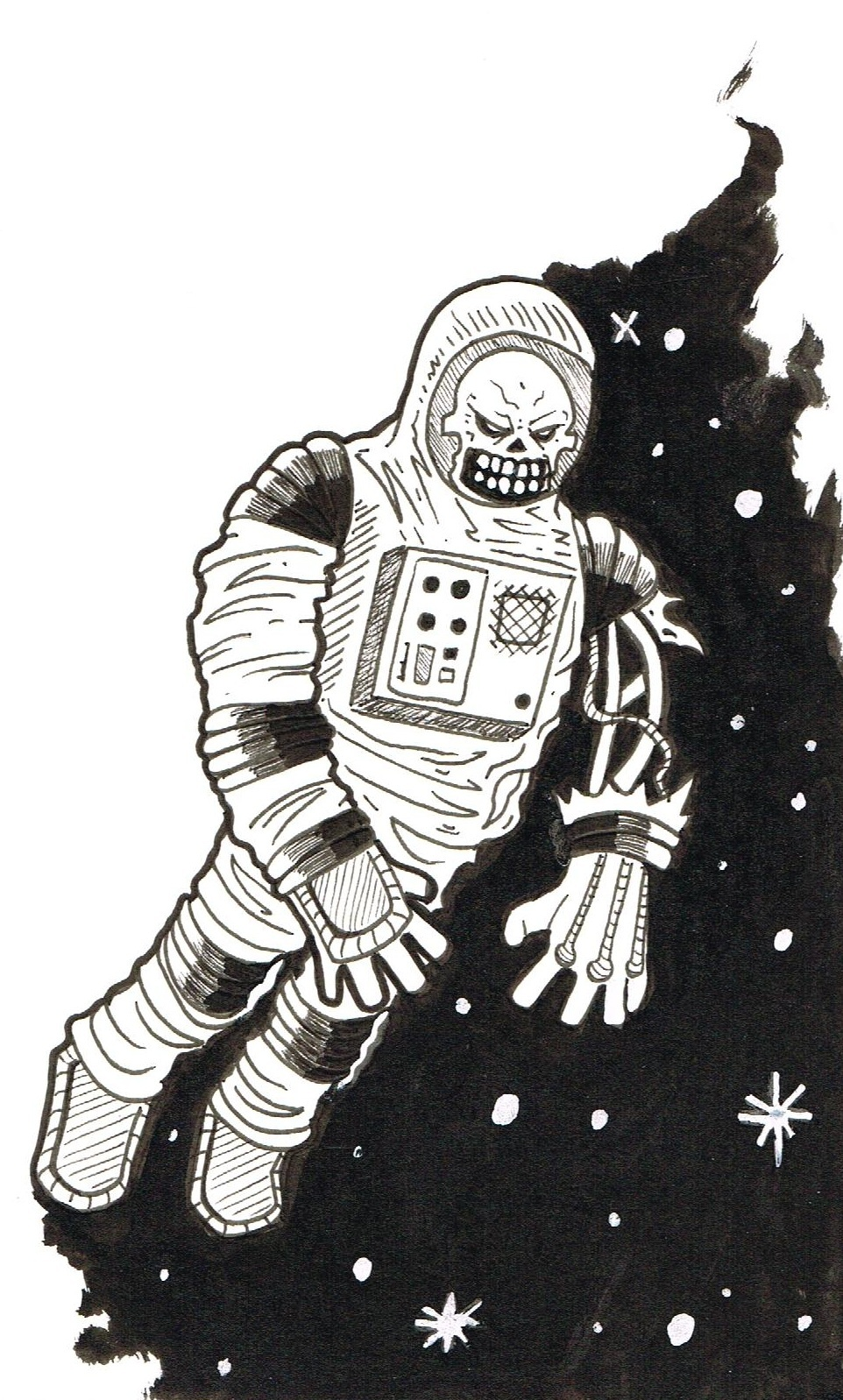 how to draw an astronaut suit