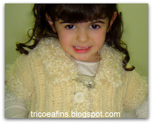 Colete infantil creme