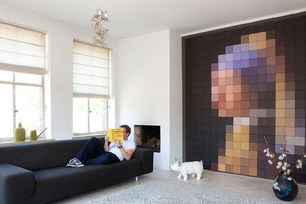 IXXI,Decorancion, paredes, wall,art,synaps,cuadrados,cuadros,squares,tile,Vermeer