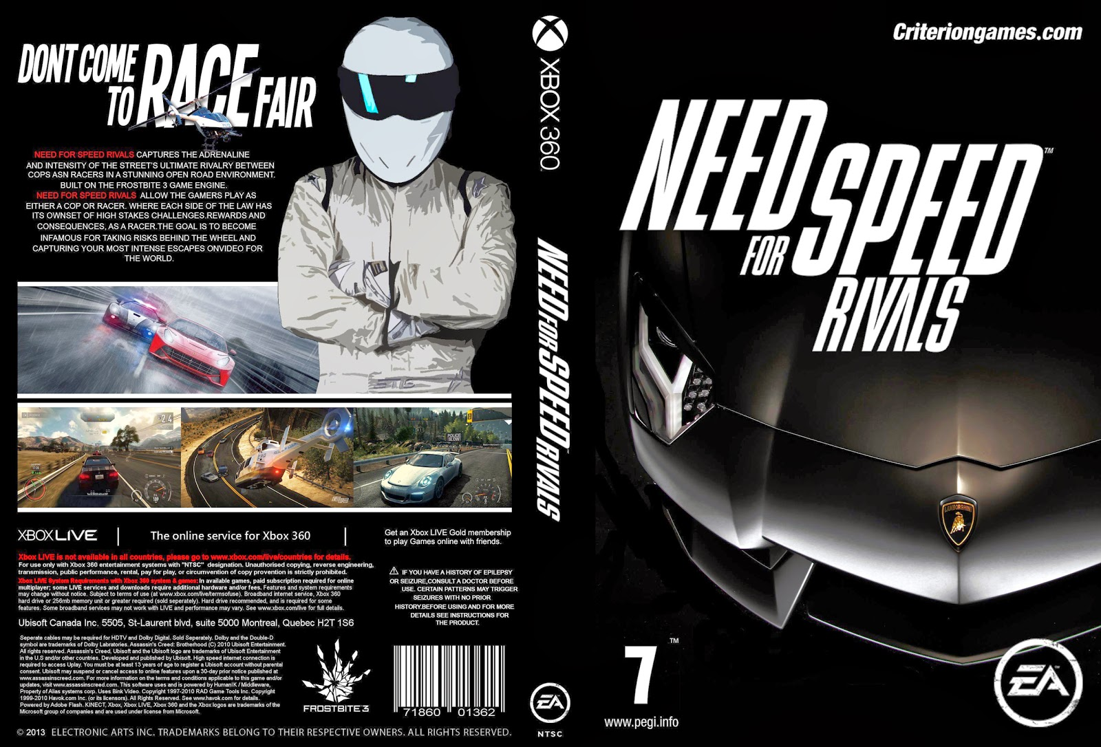Capa Need For Speed Rivals Xbox 360