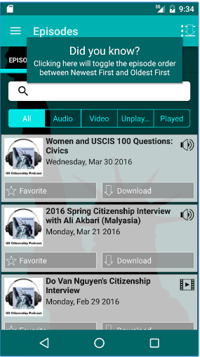 uscitizenpod FREE Android app