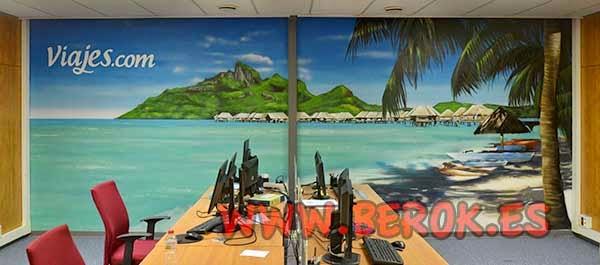 Decoración mural de oficina