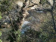 La Riera de Merlès fa de límit nord entre els termes de Gaià i Puig-reig