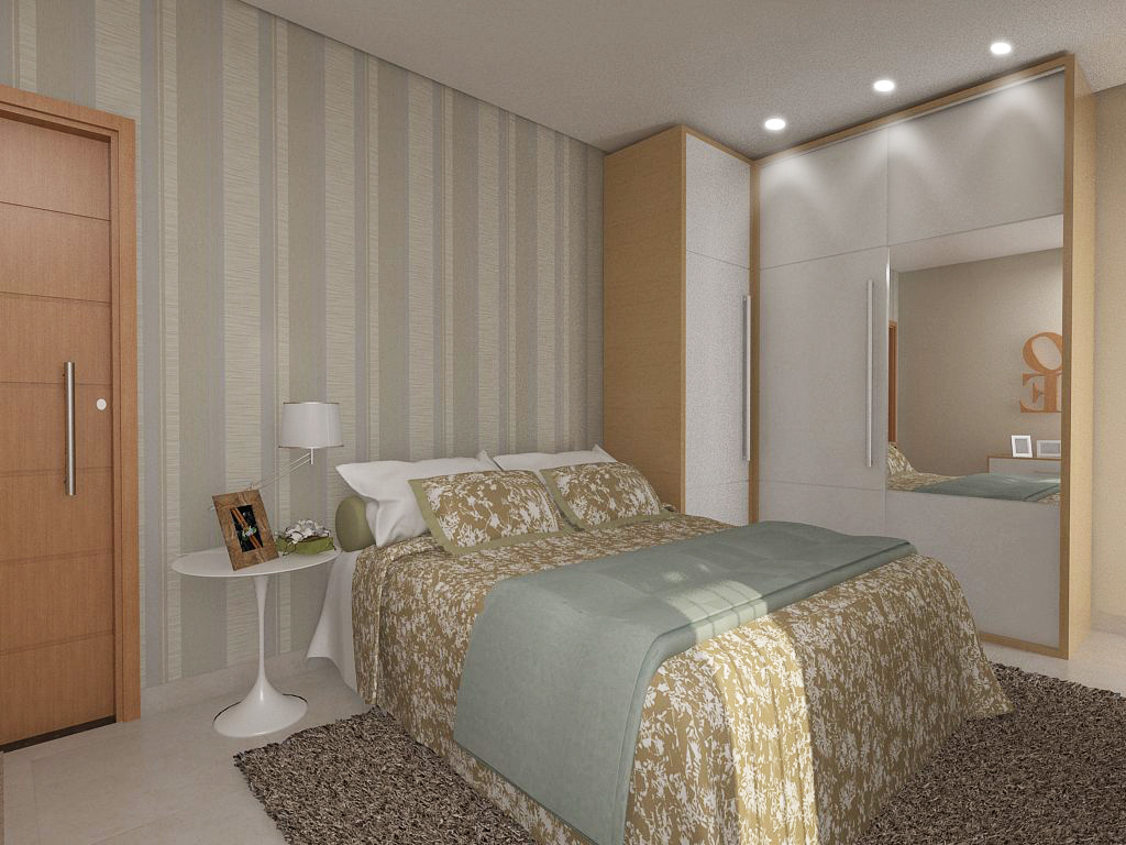 Como Decorar Dormitorios Pequeos Nichos Ideias De Decorao De  ~ Quarto Planejado Casal Preço E Dye Decoração De Quarto