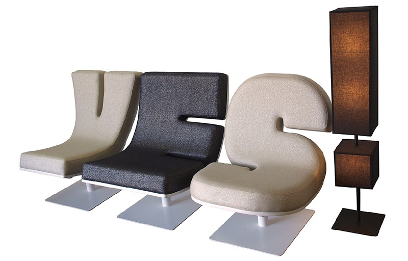 If it 39 s hip it 39 s here archives typographic furniture for Furniture 5 letters