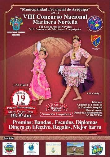 VIII Concurso nacional de Marinera Norteña, Arequipa- 19 de Julio