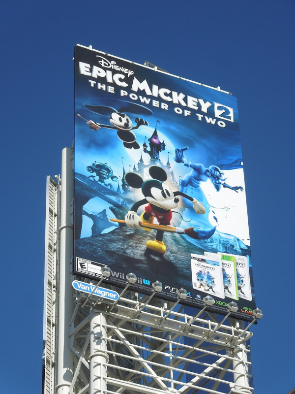 Disney Epic Mickey 2 video game billboard