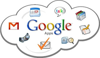 a cloud with all the Google apps, such as Google docs (spreadsheet, powerpoint), chat and GMail.