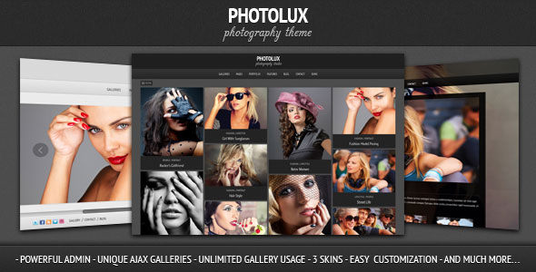 Photolux - Photography WordPress Theme Free Download by ThemeForest.
