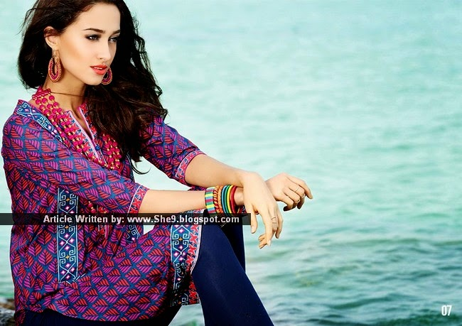 RangJa Lawn 2015 in Ready to Wear Kurti