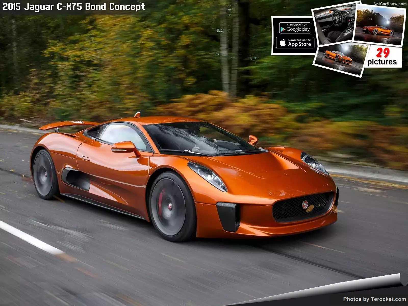 Hình ảnh siêu xe Jaguar C-X75 Bond Concept 2015 & nội ngoại thất