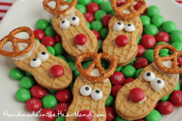 Nutter Butter Reindeer Cookies