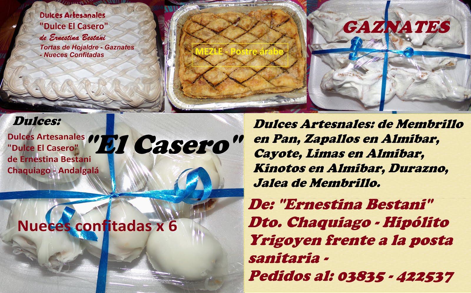 Dulces: EL CASERO