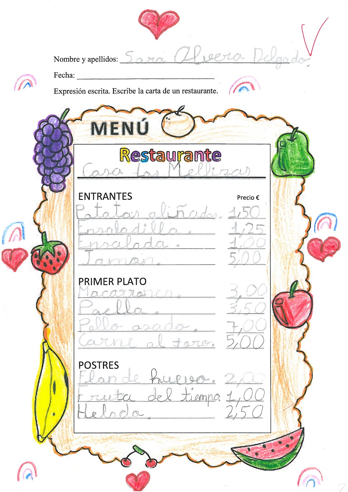 El blog de la clase de jos luis trabajos de expresi n for Como disenar un restaurante