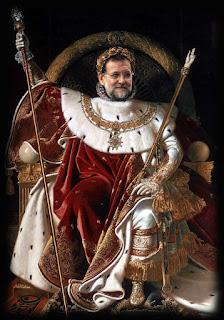 Rajoy el emperador en pelotas. Abuelohara.