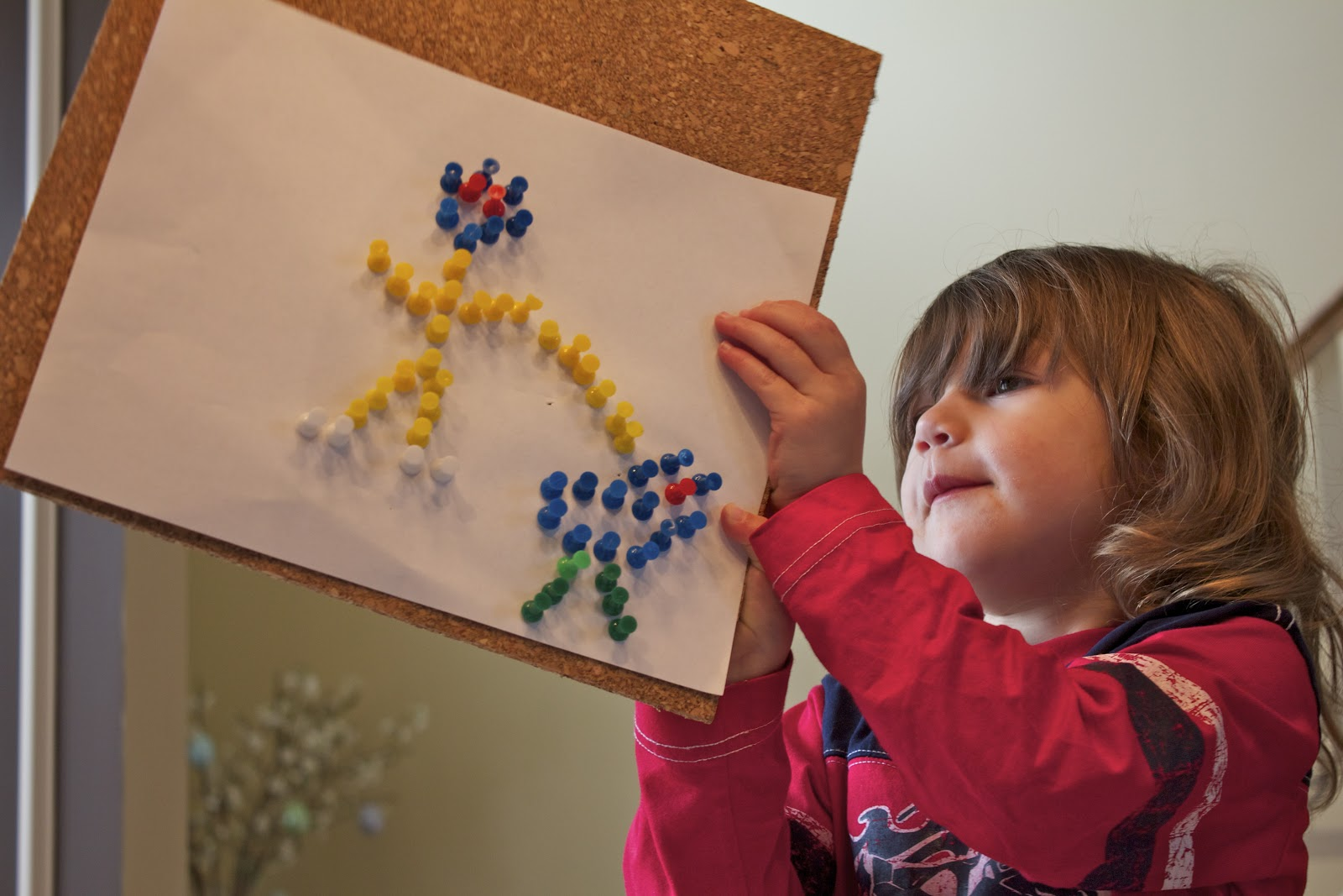 Getting Creative with Push Pins | Activities For Children | Clay and ...
