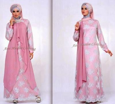 model baju muslim sifon motif
