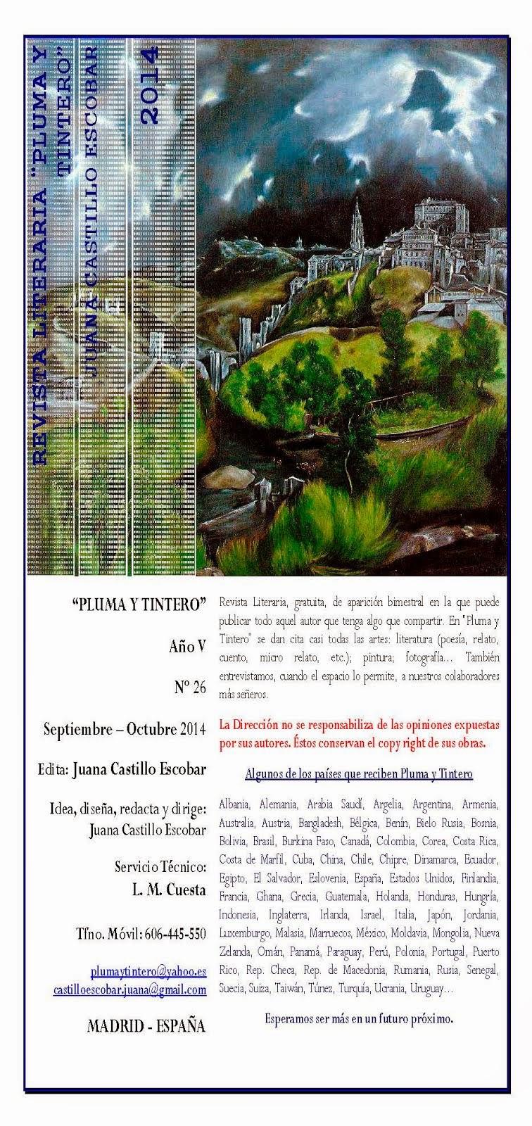 Nº 26 - Año V - Septiembre-Octubre 2014