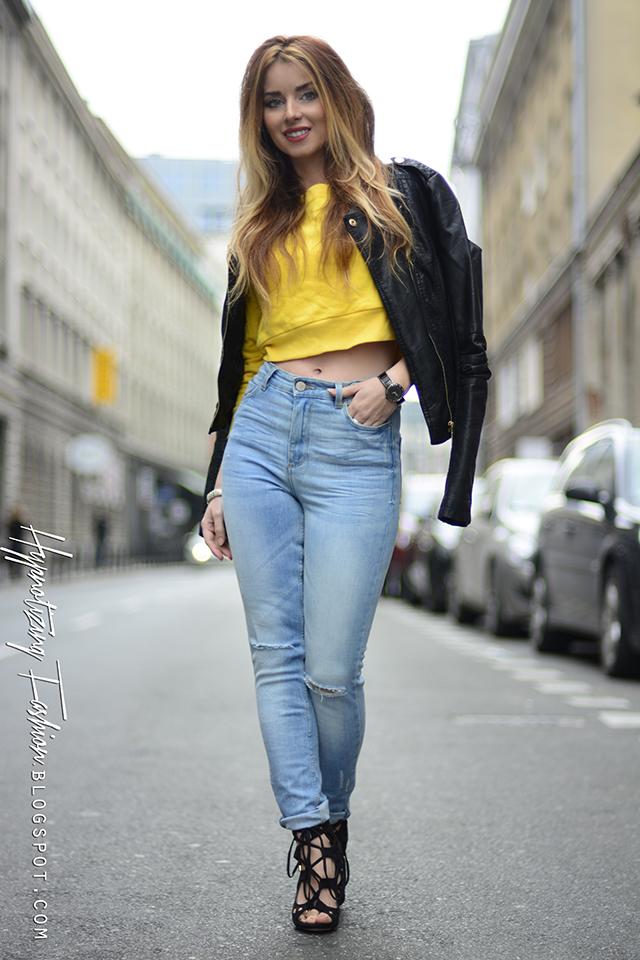 stylizacja jeansy i kurtka jeansowa