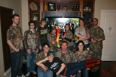 And we honed our duck hunting skills with nerf guns and targets we
