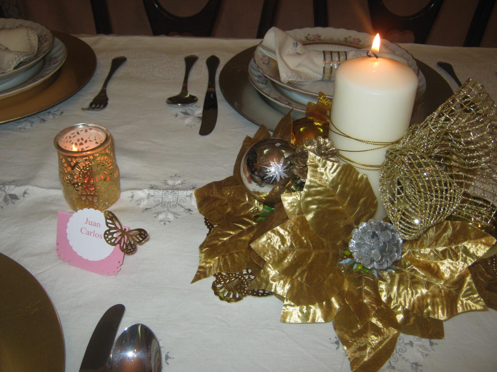 Chocolate y burbujas cena fin de a o la mesa for Mesa de fin de ano