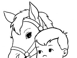 Horse With Colt Coloring Page