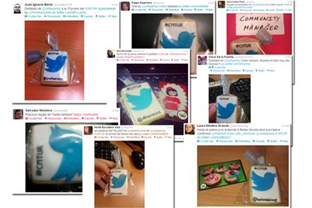 Los alumnos compartiendo fotos de sus galletas en redes sociales