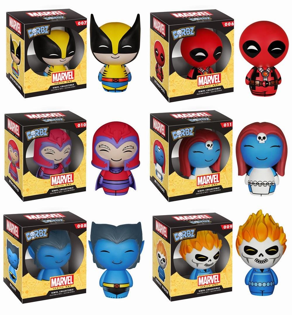 Marvel Dorbz Vinyl Figures Series 1 by Funko x Vinyl Sugar - Wolverine, Deadpool, Magneto, Mystique, Beast & Ghost Rider
