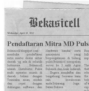 Bekasicell, Pulsa Bekasi, Dealer Pulsa Jawa Barat Jawa Tengah Jawa Timur NTB NTT  Madura Bali
