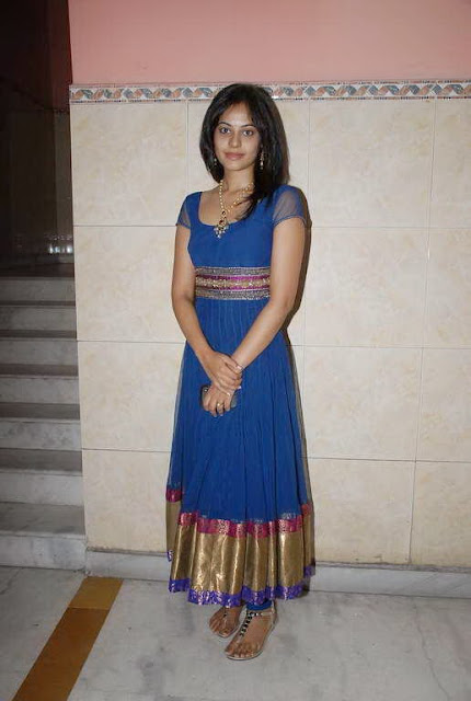 Bindu Madhavi in Modern Blue Chruridar