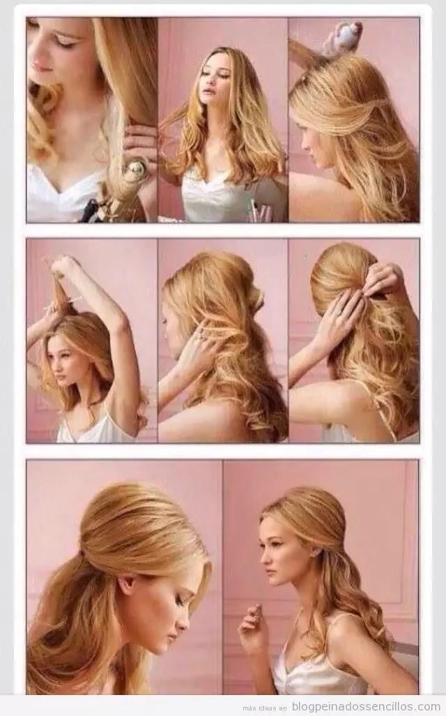 4 peinados faciles para pelo rizado YouTube - peinados para pelo rizado paso a paso