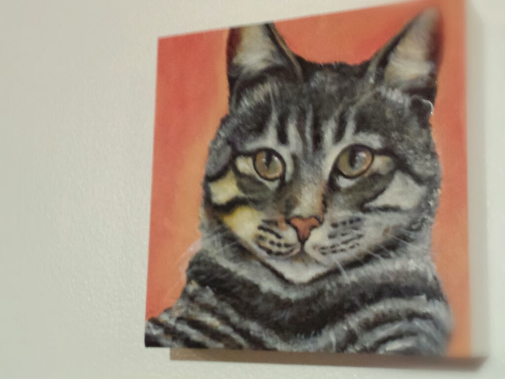 Tabby Cat Oil Painting